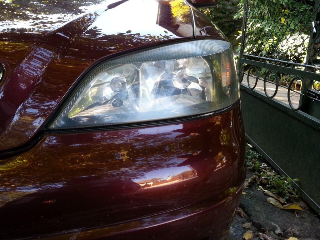 autólámpa polírozás előtte Bugyi