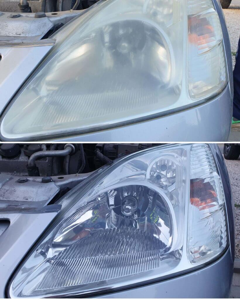 autó lámpa polírozó